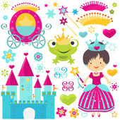 Princess set — Stock Vector