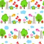 Garden seamless background — Stock Vector