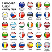 Flags of countries - members of European Union — Stock Vector