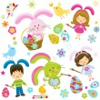 Easter children — Stock Vector #19267115