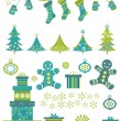 Christmas elements — Imagen vectorial