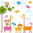 Animals background - Stock Vector