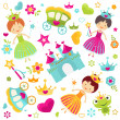 Stock Vector: Princess set