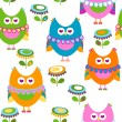 Owls pattern — Stock Vector #19488239