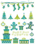 Christmas elements — Stock Vector