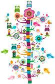 Whimsy garden — Stock Vector