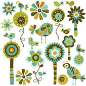 Whimsy flowers — Stock Vector