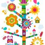 Постер, плакат: Owls tree