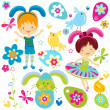 Boy and girl in bunny costume — Stock Vector