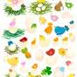 Easter chicken - Imagen vectorial