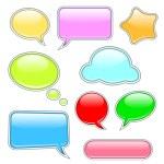 Shiny speech bubbles — Stock Vector #20059141