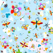 Stock Vector: Background for kids