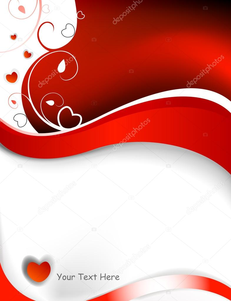 Valentine card with swirls and abstract waves — Stock Vector #20113113
