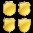 Shields with golden border - Image vectorielle