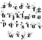 Floral alphabet — Stock Vector