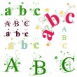 Vector de stock : Green abc