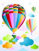 Sky with air balloon — Stock Vector