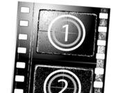 Textured film strip — Stock Vector