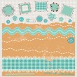 Stock Vector: Scrapbook kit