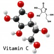 Stock Vector: Vitamin C molecule