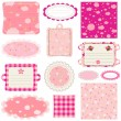 Royalty-Free Stock Vector Image: Elements for baby scrapbook