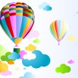 Royalty-Free Stock Vector Image: Sky with air balloon