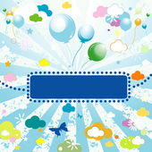 Background for kids — Stock Vector