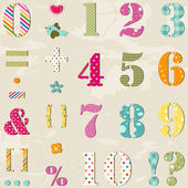 Colorful numbers set — Vecteur