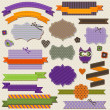 Stock Vector: Halloween vintage ribbons