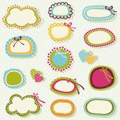 Spring colors labels set — Vecteur