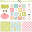 Baby backgrounds - Imagen vectorial
