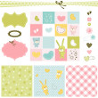 Baby backgrounds - Vettoriali Stock
