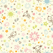 Baby seamless pattern - Imagen vectorial