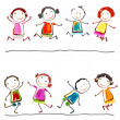 Happy children - Stock Vector