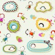 Happy children background — Stock Vector