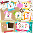 Kids and photo frames — Stock Vector #23347256