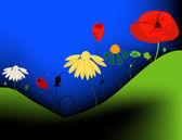 Blommor — Stockvektor