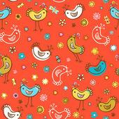 Birds patterns — Stock Vector