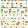 Cute borders with colorful elements — Stock Vector #25642241