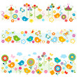 Cute nature borders with colorful elements — Stock Vector #25642243