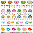 Cute borders with colorful elements — Stock Vector #25642263