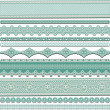 Stock Vector: Lace ribbons