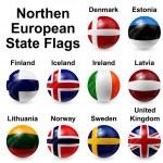 piłka flagi — Wektor stockowy