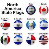 Ball flags — Stock Vector