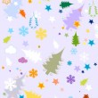Winter background for kids — 图库矢量图片