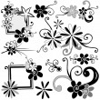 Stock Vector: Floral elements