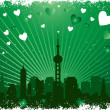 图库矢量图片: Valentines background
