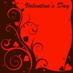 Valentine návrhu karta — Stock vektor