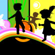 Kids silhouettes — Stock Vector #27872299