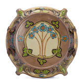 Antique porcelain dish in modern style. — Stock Photo